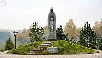 Monument to St. Sergius in Autumn Fog