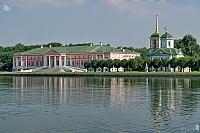 Reflections of Kuskovo Palace and Savior Church in the Grand Pond