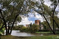 Novodevichy Bolshoy Pond framed with Trees