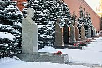 Tombs of Stalin and Other Soviet Leaders Covered Snow