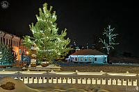 Christmas Tree at Kremlevskaya Street at Night