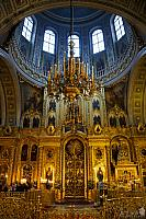 Five-tier Gold-plated Iconostasis. Interior of Yelokhovskiy Sobor