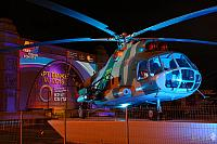 Soviet Helicopter Mi-8T Under lights of Popular Festival