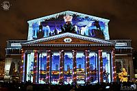 "New Year with Scene from ""The Irony of Fate"" on Facade of Bolshoi"