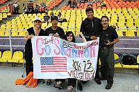"With banner ""Go Shannon"" at Luzhniki Olympic Stadium"