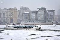 "Yacht ""Ferdinand"" on the River Moskva in the Blizzard"