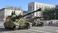 Koalitsiya-SV 152mm Self-Propelled Howitzers on Tverskaya Street