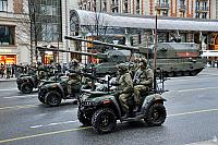 Troopers in Army ATVs AM-1 with Flagpoles