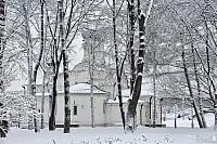 Church of St. Anna Behind the Trees After Heavy Snowfall in Zaryadye