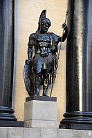 Figure of Warrior between Pillars of Triumphal Arch