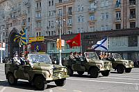 Commander Jeeps with flags of the Russian Forces