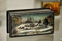 "Lacquer Box ""The Winter in Fedoskino"""