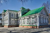 Lukutin Wooden House in Early Spring