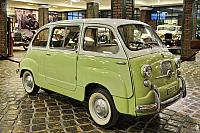 ALight-Green Fiat 600 Multipla (Front Angle View)