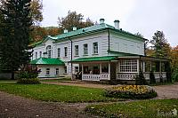 Tolstoy's House with Wooden Summer Terrace. View from North-West