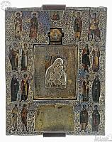 Virgin of Yakhroma with Selected Saints Icon (Suzdal)