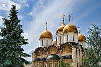 Golden Domes of Assumption Cathedral (Moscow Kremlin)