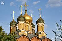 Gilded and Tiled Domes of Cathedral of the Sign on Varvarka