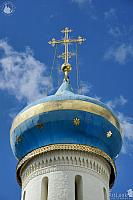 Blue Dome with Gold Stripe of Holy Spirit Church (Sergiyev Posad)