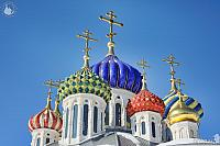 Porcelain Cupolas of Grand Prince Igor Church (Peredelkino)