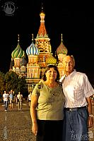 In front of St. Basil's Cathedral at Night