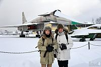 "With Unique Soviet Aircraft Sukhoi T-4 (Su-100) ""Sotka"" in Monino"