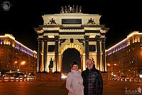 In front of Triumphal Gate at Night