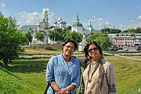 In the Background of Trinity Lavra in Sergiyev Posad