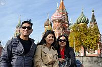 In the Background of Moscow Landmarks
