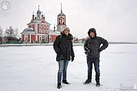 On the Ice of the Frozen Lake Pleshcheyevo