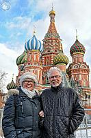 In Front of St. Basil's Cathedral After Heavy Snowfall