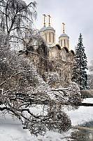 A Speck of Gold in Winter Silver - Moscow Kremlin
