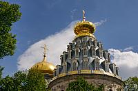 Golden Domes of Resurrection Cathedral in New Jerusalem (Istra)