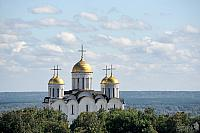 Golden Domes of the Dormition Cathedral under Clouds (Vladimir)