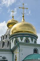 Gilded Cupolas with Crosses of Resurrection Cathedral in Istra