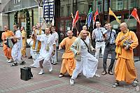 Russian Hare Krishna Dancers on Old Arbat