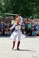 Blonde Cossack Girl with Sabre