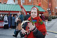 Russian Girl with Bells Celebrating Maslenitsa