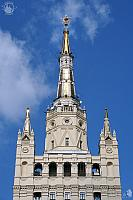 Shining Spire with Star of the Stalinist High-Rise Tower