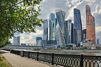 Moskva-City Skyscrapers Before Rainstorm