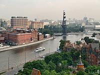 Floating on Moskva River