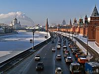 The Kremlin Embankment in One Frosty Morning