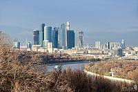 "Panorama of ""Moscow-City"" from Vorobyevy Gory"