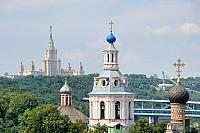 Contrasts of Moscow – Church and Stalinist Gothic Architecture