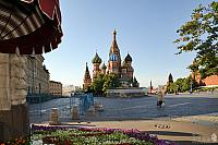 Walking to St. Basil's Cathedral in Early Summer Morning