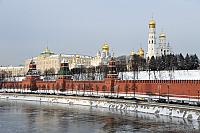 Moscow Kremlin in a Cold Winter Day