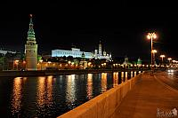 Walking on the Sofiyskaya Embankment at Night