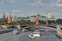 Pleasure Boats at the Moscow Kremlin