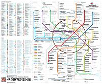 Moscow Metro Map 2013 by Art Lebedev Studio Full (No Landmarks)