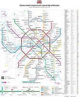 Moscow Metro Map 2013 by RIA Novosti